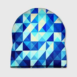 Шапка Синяя геометрия