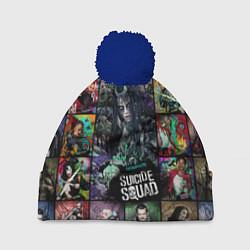 Шапка с помпоном Suicide Squad: Enchantress цвета 3D-тёмно-синий — фото 1