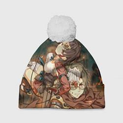 Шапка с помпоном Воин крепости цвета 3D-белый — фото 1