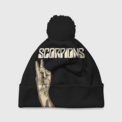 Шапка с помпоном Scorpions Rock цвета 3D-черный — фото 1