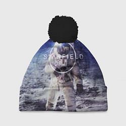 Шапка с помпоном Starfield: Astronaut цвета 3D-черный — фото 1