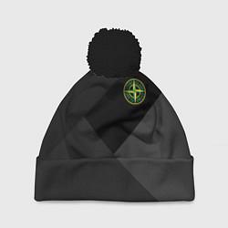 Шапка с помпоном Stone Island: Black Geometry цвета 3D-черный — фото 1