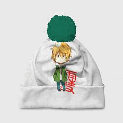 Шапка с помпоном Бездомный Бог цвета 3D-зеленый — фото 1