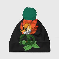 Шапка с помпоном Cuphead - Кэгни Гвоздика цвета 3D-зеленый — фото 1