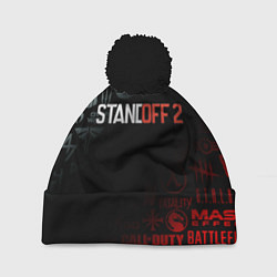 Шапка с помпоном STANDOFF 2 цвета 3D-черный — фото 1