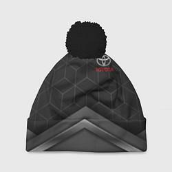 Шапка с помпоном TOYOTA цвета 3D-черный — фото 1