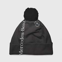 Шапка с помпоном Mersedes цвета 3D-черный — фото 1