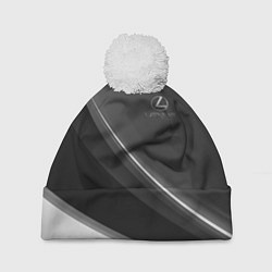 Шапка с помпоном LEXUS цвета 3D-белый — фото 1