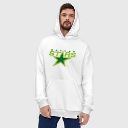 Толстовка-худи оверсайз Dallas Stars цвета белый — фото 2
