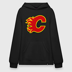 Толстовка-худи оверсайз Calgary Flames цвета черный — фото 1