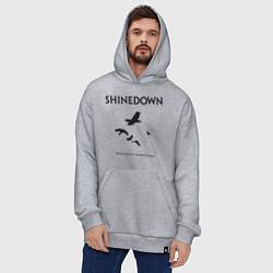 Толстовка-худи оверсайз Shinedown: Sound of Madness цвета меланж — фото 2