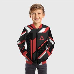 Бомбер детский CS:GO Cyrex Pattern цвета 3D-красный — фото 2