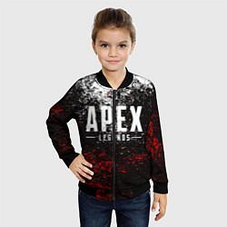 Детский 3D-бомбер на молнии с принтом APEX LEGENDS, цвет: 3D-черный, артикул: 10207168704522 — фото 2