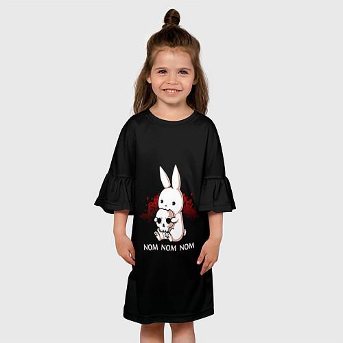 Детское платье Череп / 3D-принт – фото 3