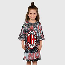 Платье клеш для девочки Milan FC цвета 3D-принт — фото 2