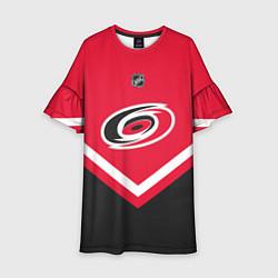 Платье клеш для девочки NHL: Carolina Hurricanes цвета 3D-принт — фото 1