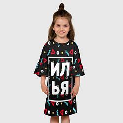 Платье клеш для девочки Илья цвета 3D — фото 2