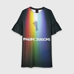 Платье клеш для девочки Imagine Dragons цвета 3D — фото 1