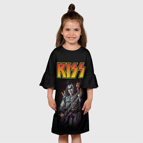 Детское платье KISS: Gene Simmons / 3D-принт – фото 3
