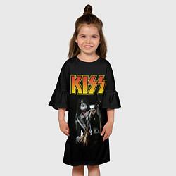 Платье клеш для девочки KISS: Ace Frehley цвета 3D-принт — фото 2
