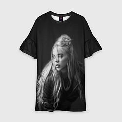 Платье клеш для девочки Billie Eilish: Black Fashion цвета 3D-принт — фото 1