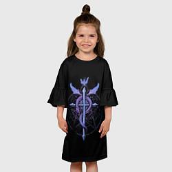 Платье клеш для девочки Стальной алхимик цвета 3D — фото 2