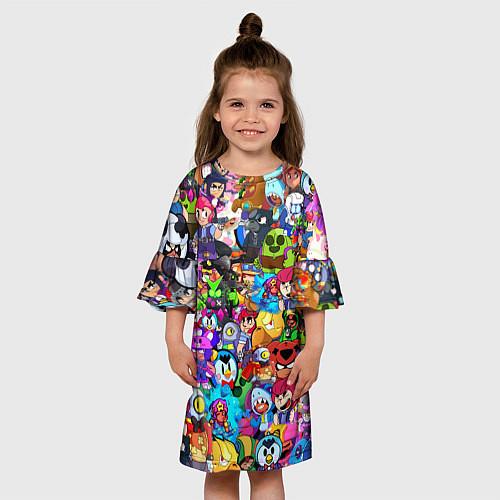 Детское платье BRAWL STATS ВСЕ ПЕРСОНАЖИ / 3D – фото 3
