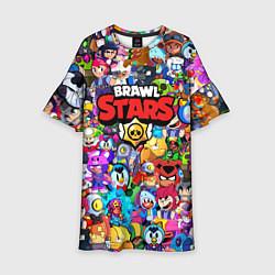 Платье клеш для девочки BRAWL STARS цвета 3D — фото 1