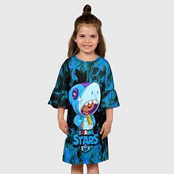 Платье клеш для девочки Brawl Stars Leon цвета 3D — фото 2