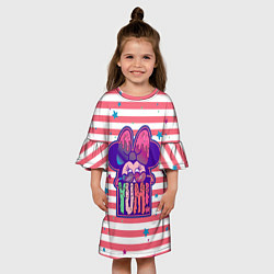 Платье клеш для девочки Minnie Mouse YUM! цвета 3D-принт — фото 2