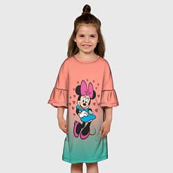Платье клеш для девочки Минни Маус цвета 3D — фото 2