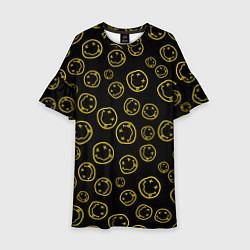 Платье клеш для девочки Nirvana Pattern цвета 3D-принт — фото 1