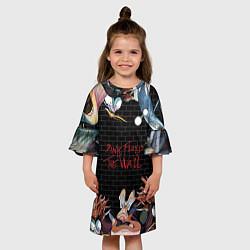 Платье клеш для девочки Pink Floyd: The Wall цвета 3D-принт — фото 2