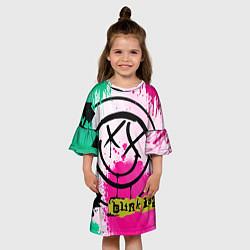 Платье клеш для девочки Blink-182: Purple Smile цвета 3D-принт — фото 2