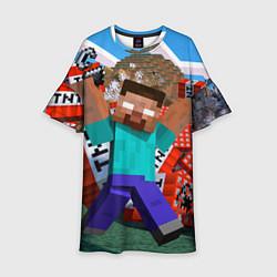 Платье клеш для девочки Minecraft Man цвета 3D-принт — фото 1