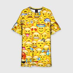 Платье клеш для девочки Emoji цвета 3D — фото 1