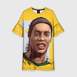 Платье клеш для девочки Ronaldinho Art цвета 3D-принт — фото 1