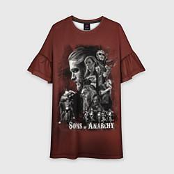 Платье клеш для девочки Sons Of Anarchy цвета 3D — фото 1