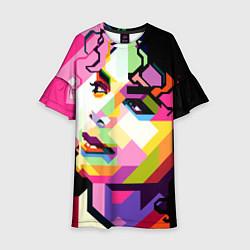 Платье клеш для девочки Michael Jackson Art цвета 3D-принт — фото 1