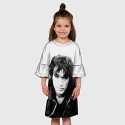 Платье клеш для девочки Кино: Виктор Цой цвета 3D — фото 2