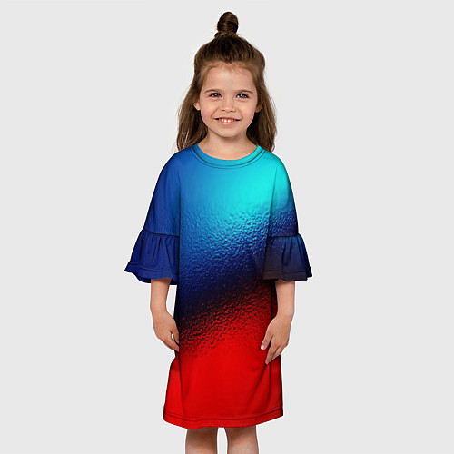 Детское платье Синий и красный / 3D-принт – фото 3