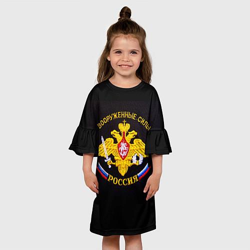 Детское платье ВС России: вышивка / 3D – фото 3