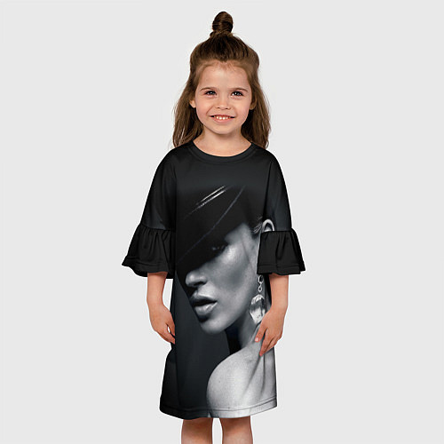 Детское платье Девушка в шляпе / 3D – фото 3