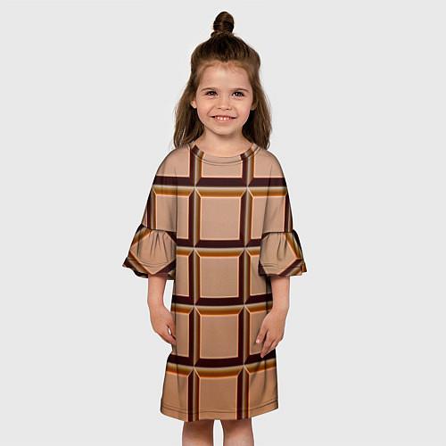 Детское платье Шоколад / 3D – фото 3