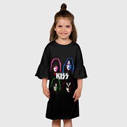 Платье клеш для девочки KISS: Acid Colours цвета 3D — фото 2