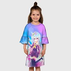 Платье клеш для девочки No Game No Life цвета 3D-принт — фото 2