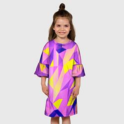 Платье клеш для девочки Texture цвета 3D — фото 2