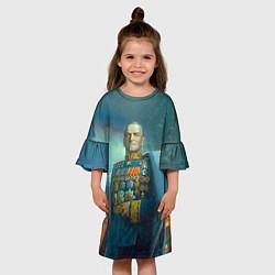 Платье клеш для девочки Жуков цвета 3D — фото 2
