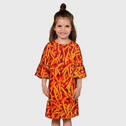 Платье клеш для девочки Морковь цвета 3D — фото 2