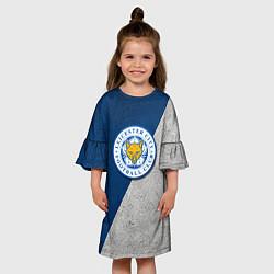 Платье клеш для девочки Leicester City FC цвета 3D — фото 2